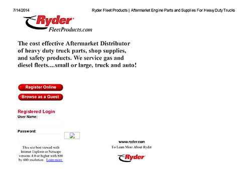 RyderFleetProducts.com website