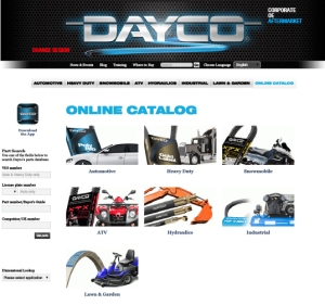 Dayco Catalog Application Guide