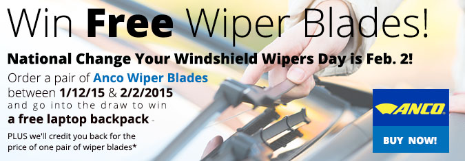 Feb 2, 2015 National Change Your Windshield Wipers Day