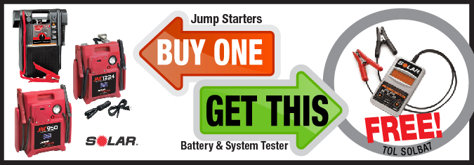 Free battery and system tester promo